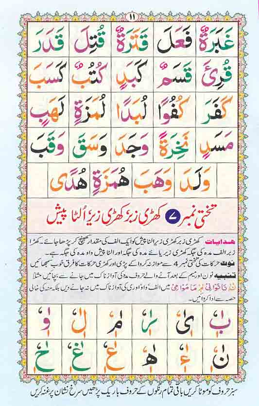 Read Online Colored Coded Noorani Qaida Free Quran Learning